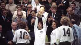 Gerd Muller with the 1974 World Cup