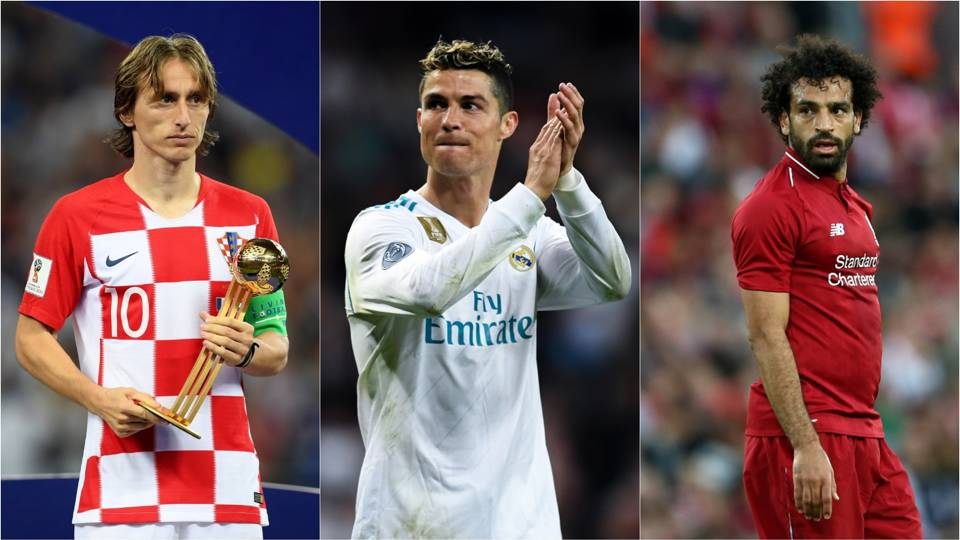 Best FIFA Men's Player: Ronaldo, Modric and Salah nominated as Messi misses out
