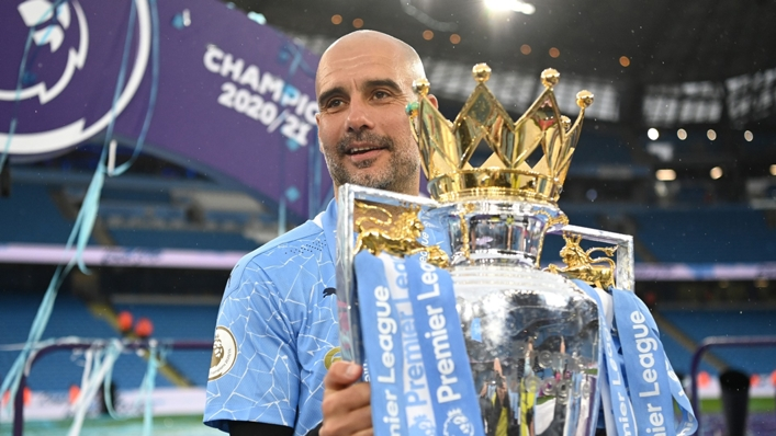 Pep Guardiola has led Manchester City to three of the past four Premier League titles
