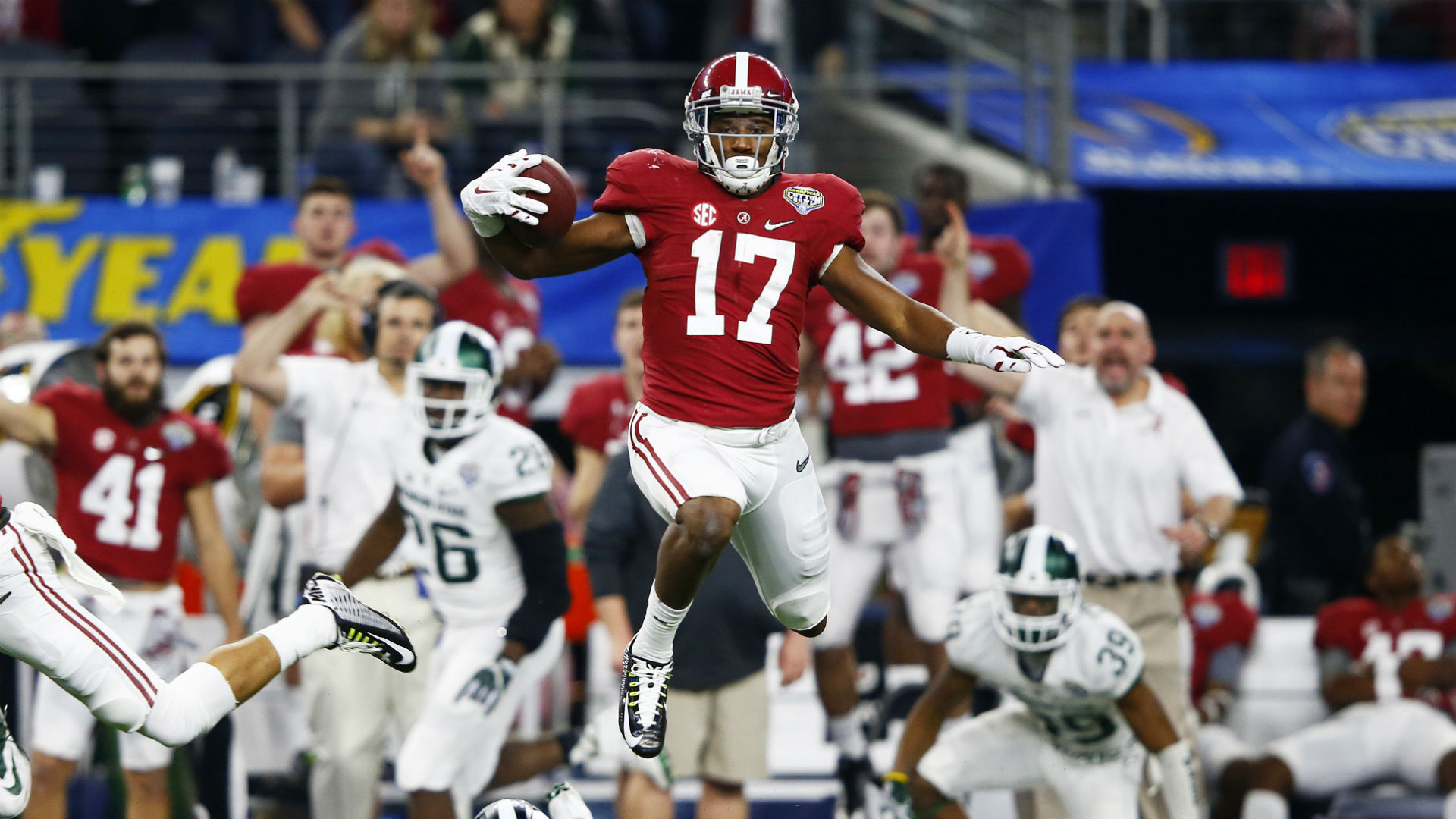 new product 09962 6725c Alabama's Kenyan Drake takes shot at Michigan State on ...