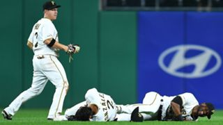 Starling Marte and Erik Gonzalez injured in collision