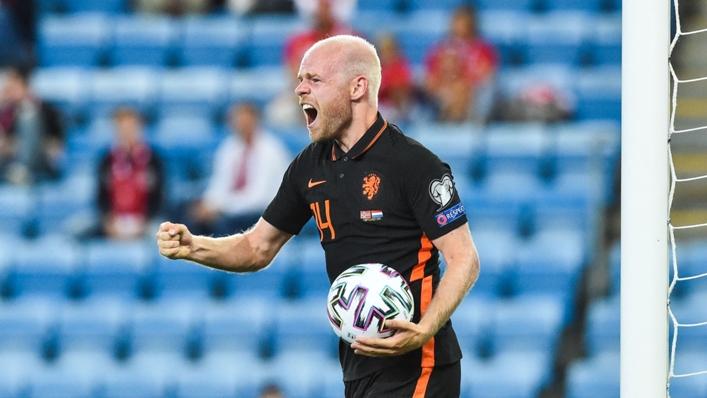 Davy Klaassen celebrates his equaliser against Norway