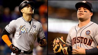 Giancarlo Stanton (left) and Jose Altuve (right)