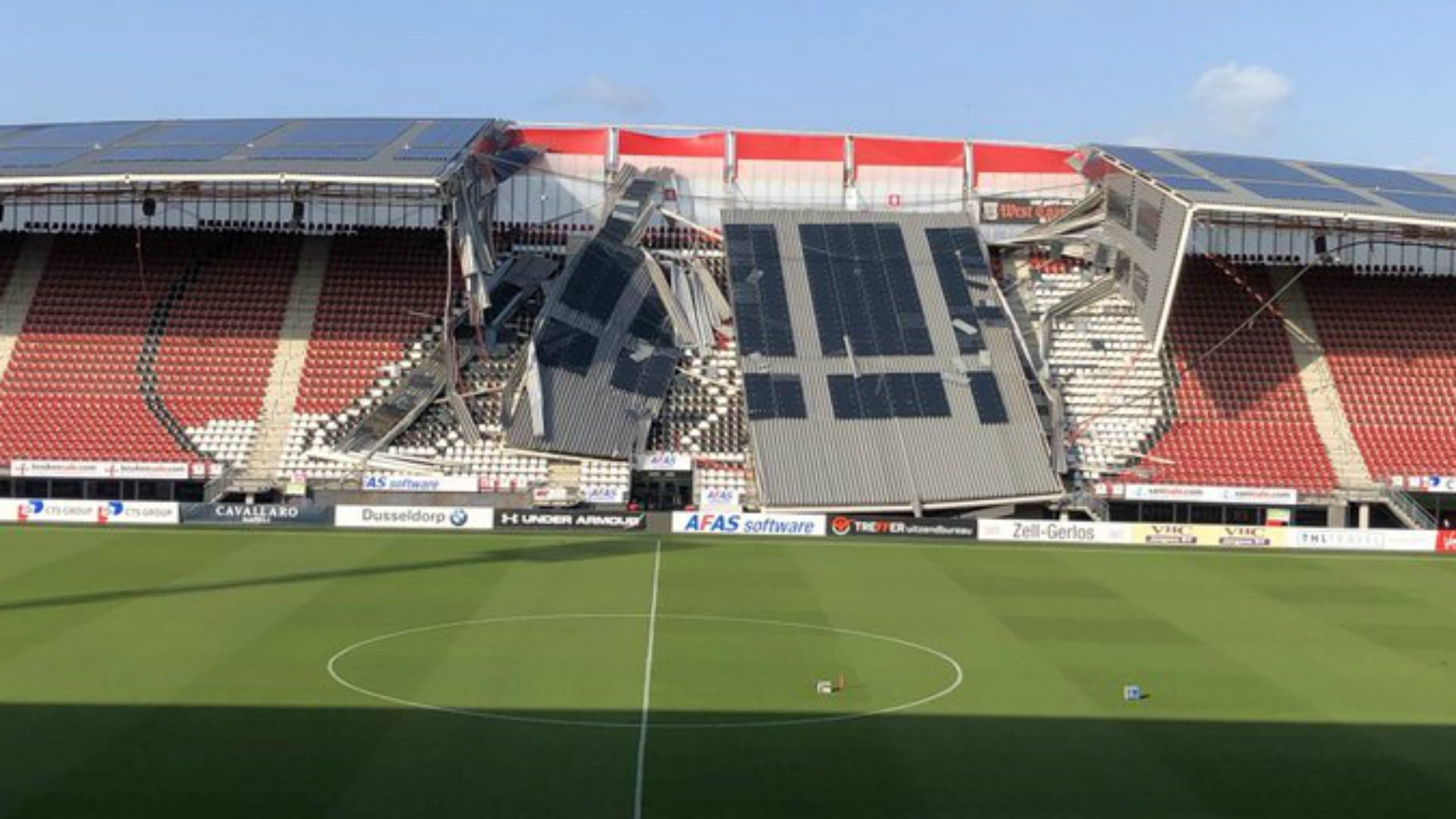 No injuries as roof collapses at Dutch stadium