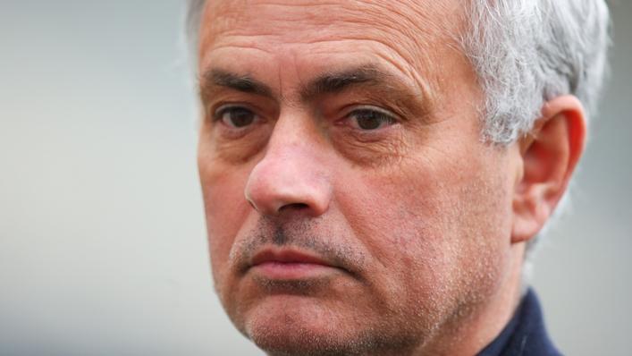 Roma head coach Jose Mourinho