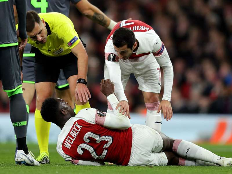 Arsenal 0 Sporting CP 0: Welbeck injury sours Europa League stalemate