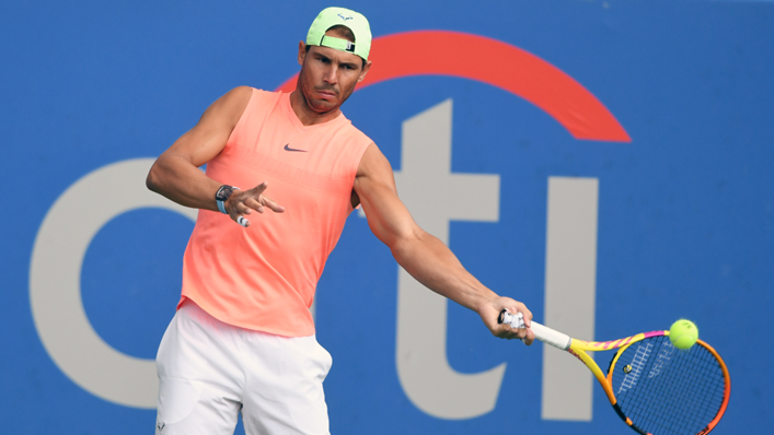 Rafael Nadal in action at the Citi Open