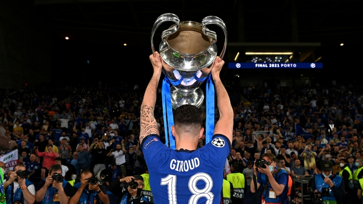 Olivier Giroud won the Champions League with Chelsea in the 2020-21 season