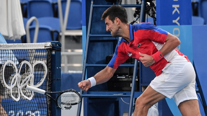 Novak Djokovic got angry as his medal hopes slipped away
