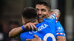 Luis Suarez secured a late win for Atletico Madrid over Milan