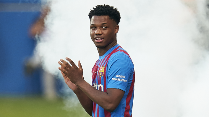 Ansu Fati is back in the Barcelona squad after 10 months out