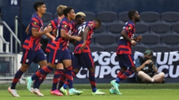 The United States celebrate their goal against Haiti in the CONCACAF Gold Cup