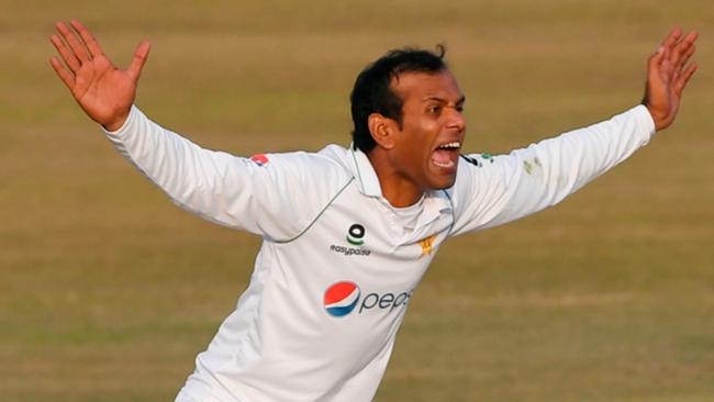 Nauman Ali in action for Pakistan