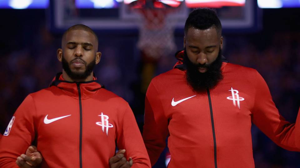 NBA wrap: Rockets top Warriors without James Harden