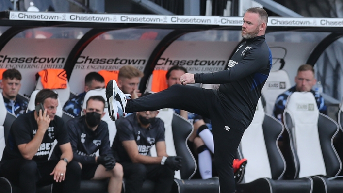 Derby County manager Wayne Rooney saw the club plunged into administration