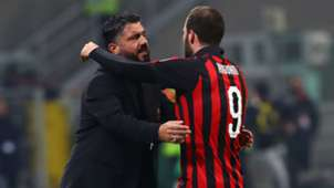 Gennaro Gattuso and Gonzalo Higuain - cropped