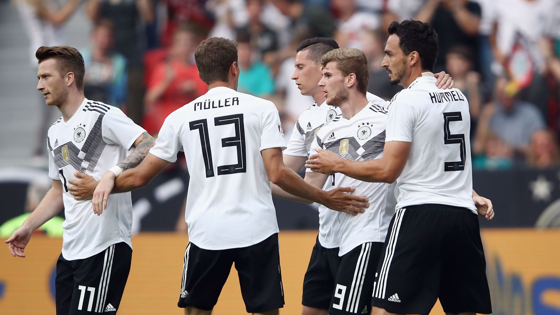 Werner shines as nervy Germany end winless streak