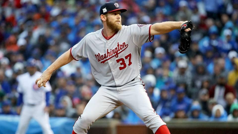 MLB wrap: Stephen Strasburg, Bryce Harper lead Nationals over Diamondbacks