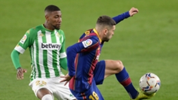 Emerson in action for Betis against Barcelona