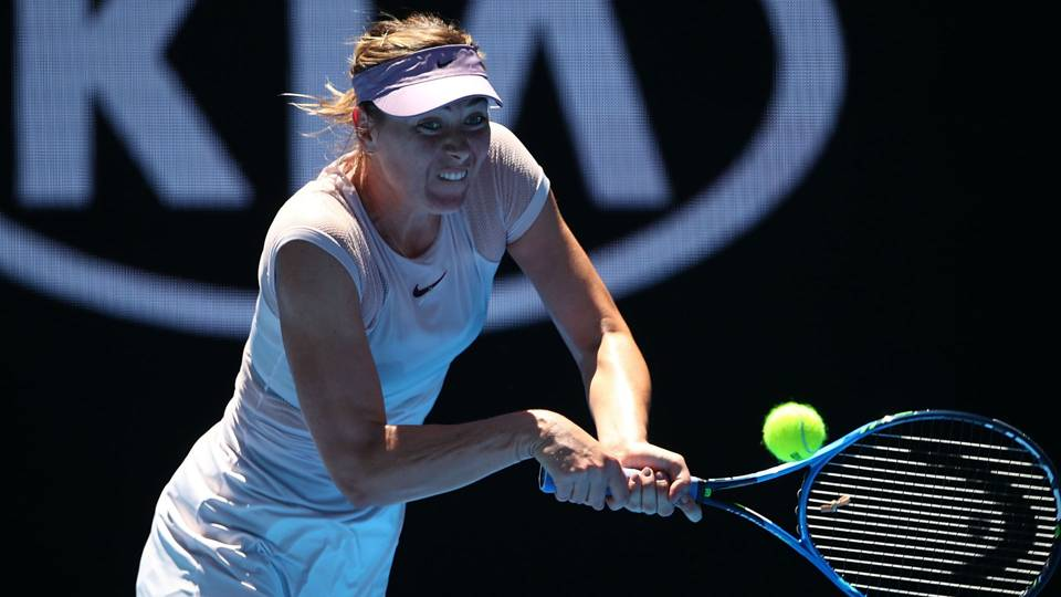 Maria Sharapova remains positive despite struggles in return to tennis