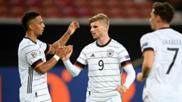 Germany's Timo Werner is rumoured to be a target for Carlo Ancelotti