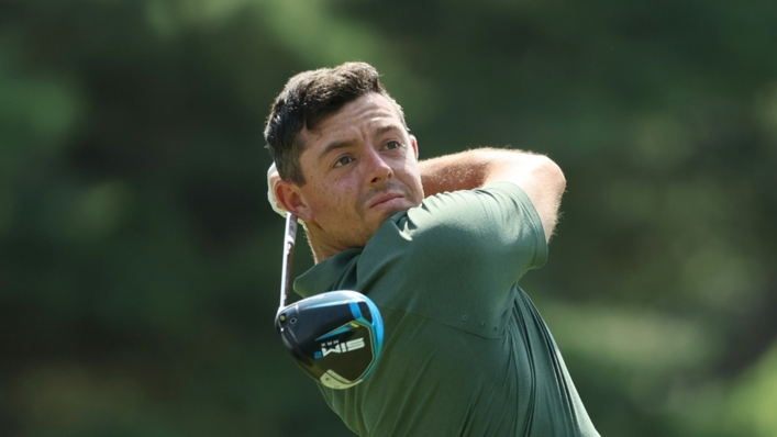 Rory McIlroy in action at Tokyo 2020