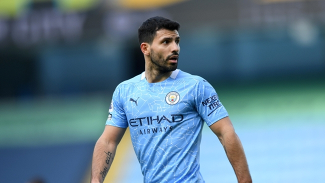 Manchester City striker Sergio Aguero is expected to move to Barcelona at the end of the campaign