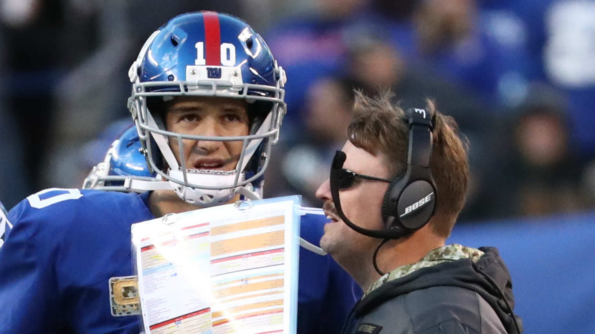 Ben McAdoo on Eli Manning: 'He's our quarterback'