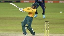Quinton de Kock during South Africa's win over Sri Lanka on Sunday