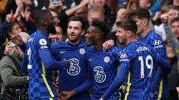 Chelsea celebrate against Norwich City