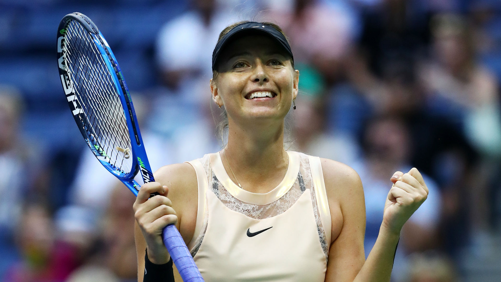 Maria Sharapova claims first title since doping ban
