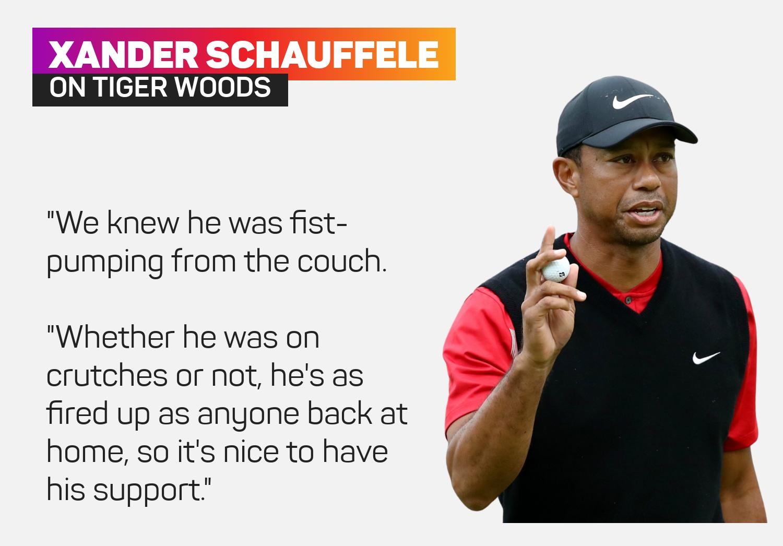 Xander Schauffele on Tiger Woods