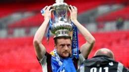 Jamie Vardy with the FA Cup