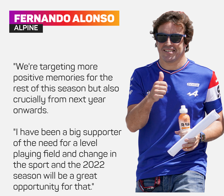 Alpine driver Fernando Alonso