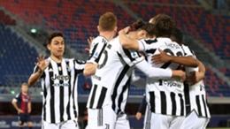 Juventus celebrate against Bologna