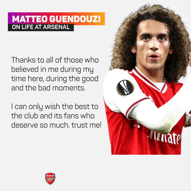 Matteo Guendouzi on Arsenal