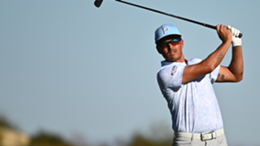 Rickie Fowler of the United States plays an approach shot on the 14th hole during the third round of THE CJ CUP