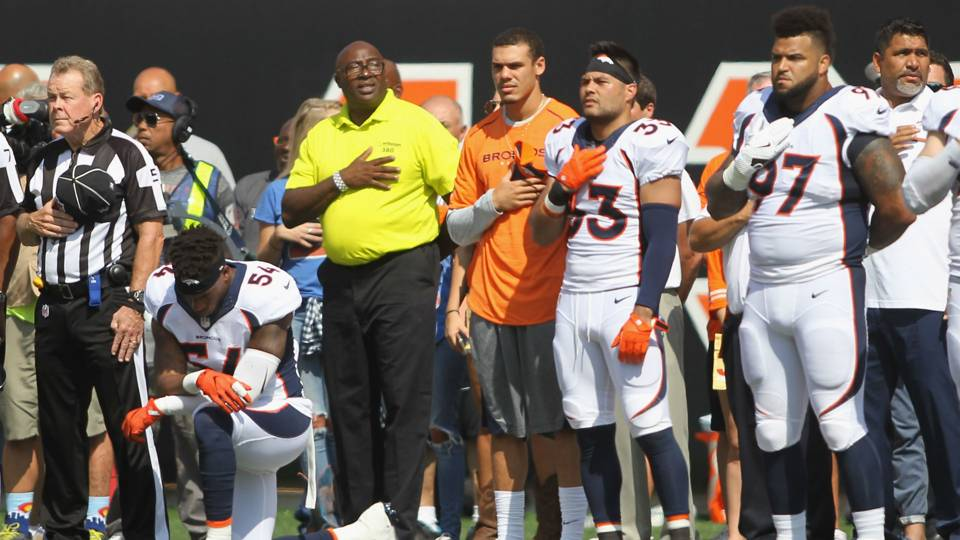 Brandon Marshall, Doug Baldwin react strongly to President Trump's comments on NFL anthem stance