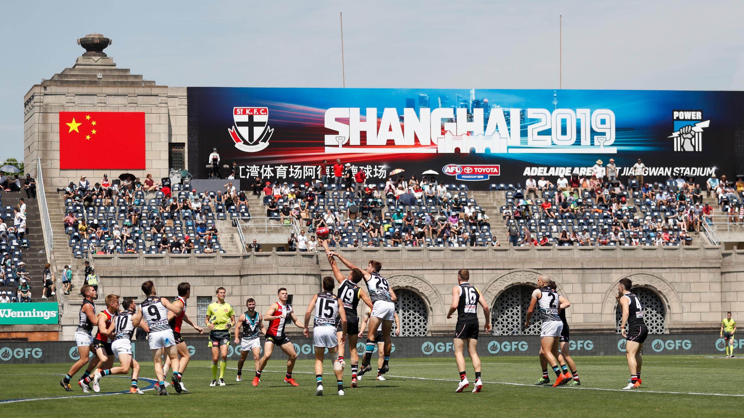 AFL confirms 2020 return to Shanghai between Port Adelaide and St Kilda