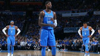 #Paul George Russell Westbrook Carmelo Anthony