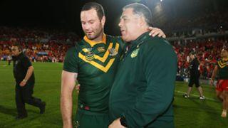 Boyd Cordner and Mal Meninga