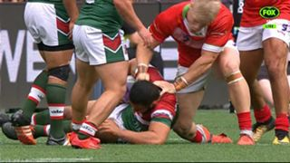 Wales v Lebanon fight