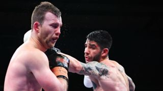 Jeff Horn Getting punched in the face