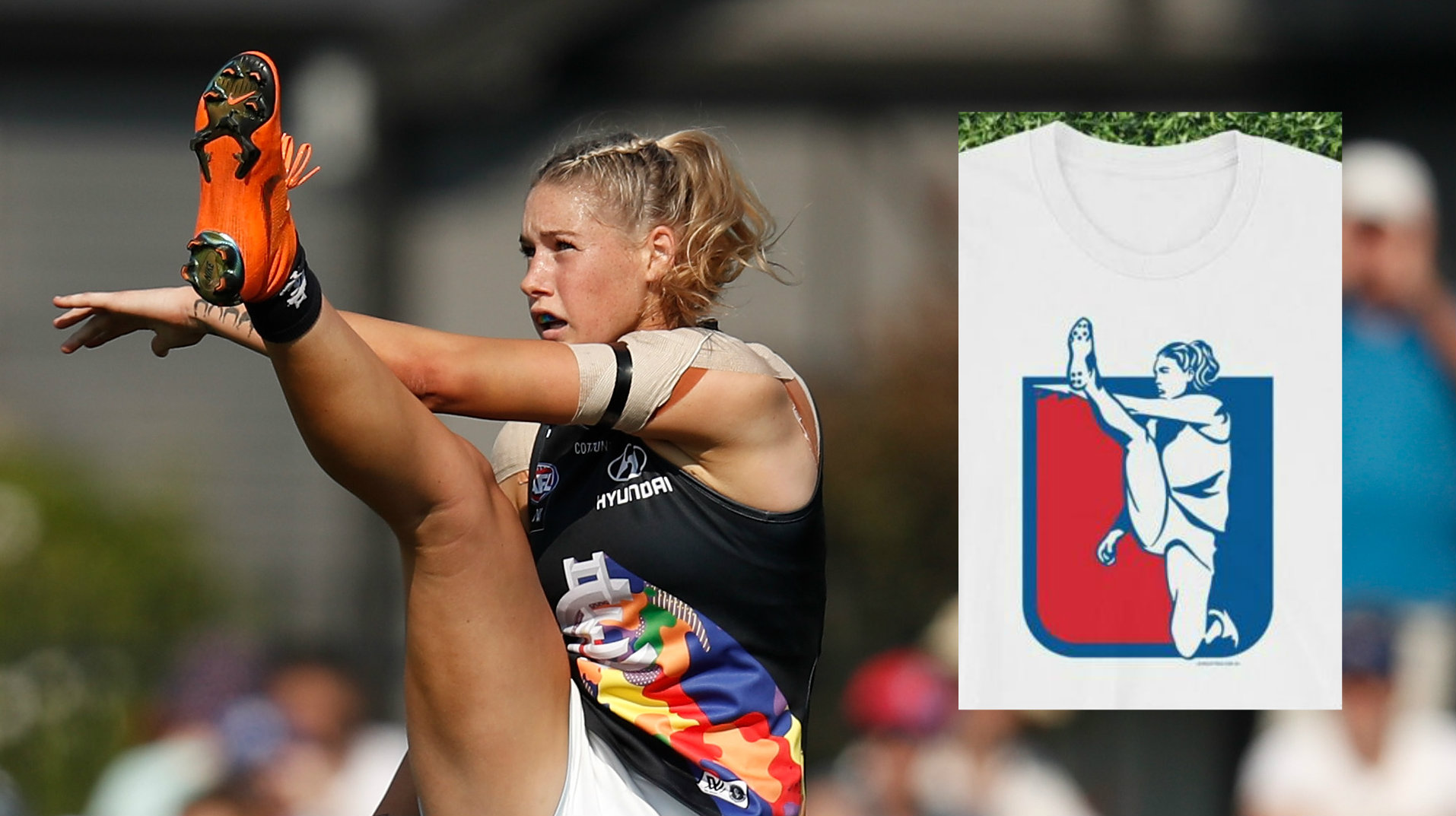 AFL responds to Tayla Harris T-shirt intellectual property infringement claims