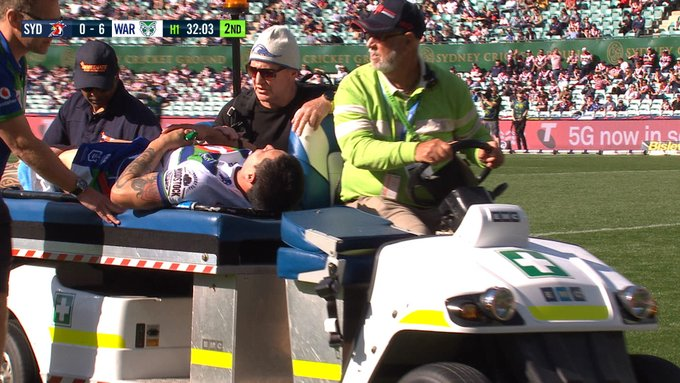Gerard Beale suffers suspected dislocated knee in Warriors' loss