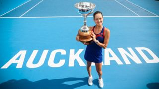 Ana Ivanovic after winning the the ASB Classic