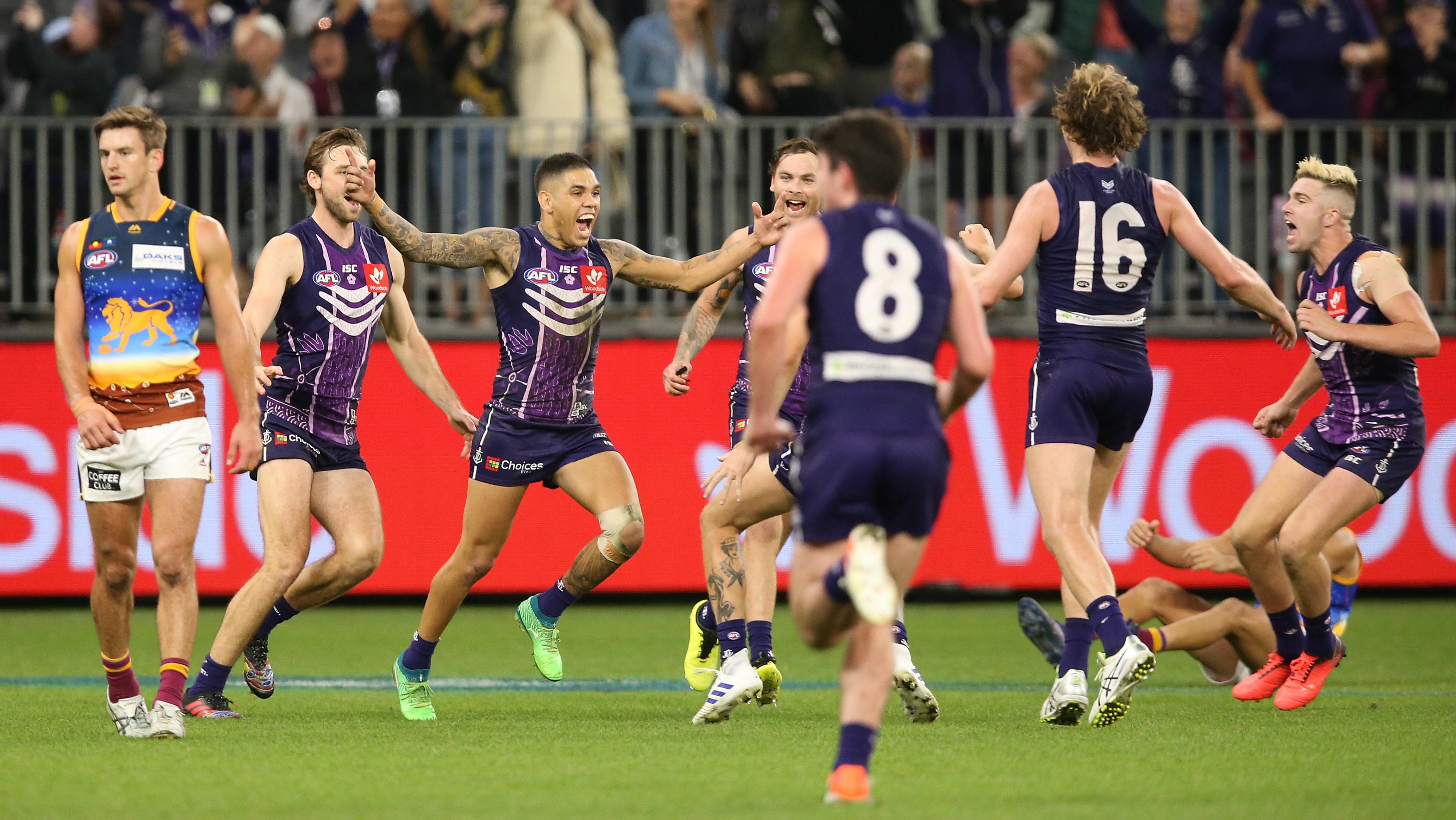 Fremantle v Brisbane: Michael Walters wins it for the Dockers after the siren