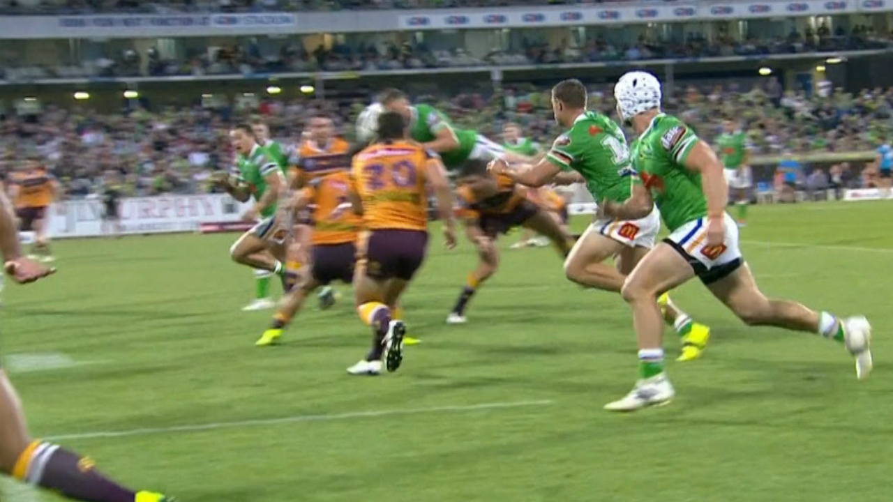 Anthony Seibold seeks clarification over Canberra's decisive 'falcon' try: 'He was offside'