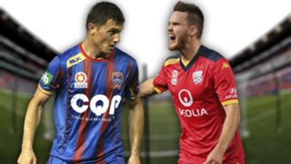 A-League.  Newcastle Jets v Adelaide United