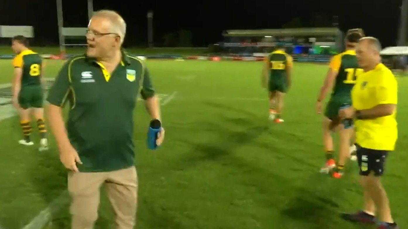 Prime Minister's XIII vs Fiji: Barefooted Scott Morrison runs the water for dominant Aussies